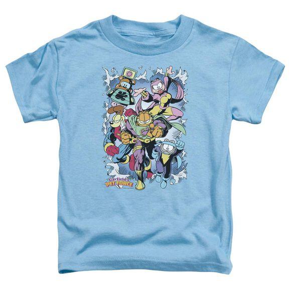 Garfield Ripped Short Sleeve Toddler Tee Carolina Blue T-Shirt