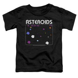 Atari Asteroids Screen Short Sleeve Toddler Tee Black T-Shirt
