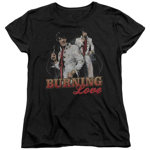 Elvis Presley Burning Love Short Sleeve Womens Tee T-Shirt