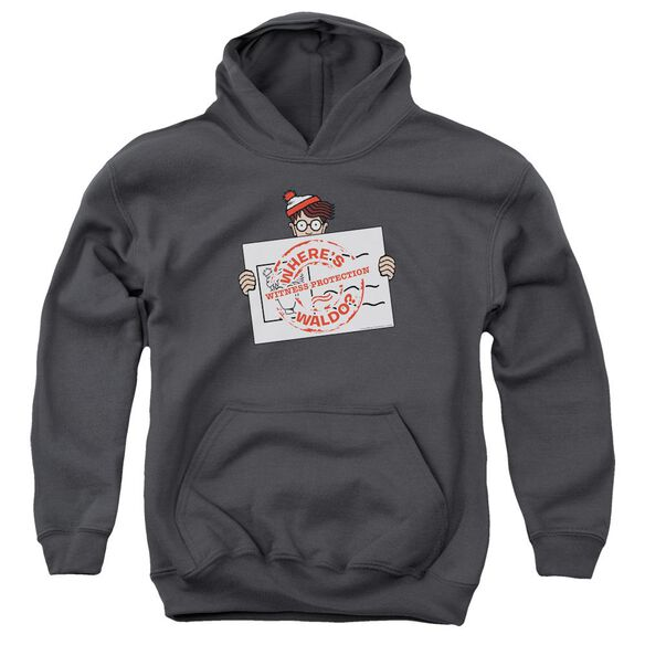 Wheres Waldo Witness Protection Youth Pull Over Hoodie