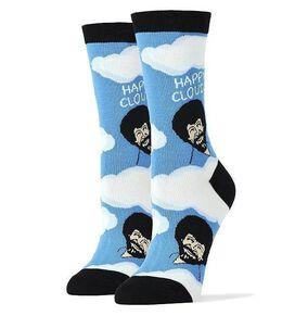Bob Ross Happy Clouds Women's Crew Socks