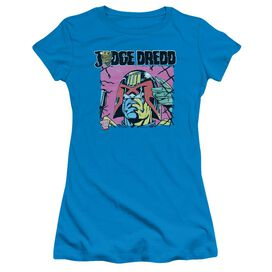Judge Dredd Fenced Short Sleeve Junior Sheer T-Shirt