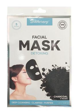 Spatherapy Detoxing Charcoal Face Mask - 5 count