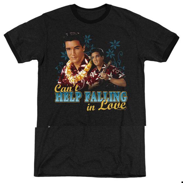 Elvis Presley Cant Help Falling - Adult Heather Ringer - Black