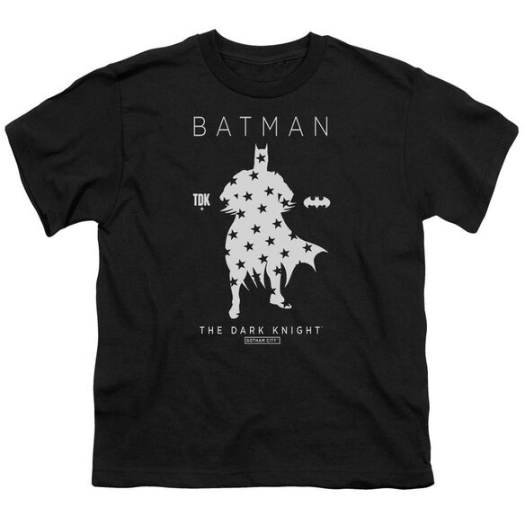 Batman Star Silhouette Short Sleeve Youth T-Shirt