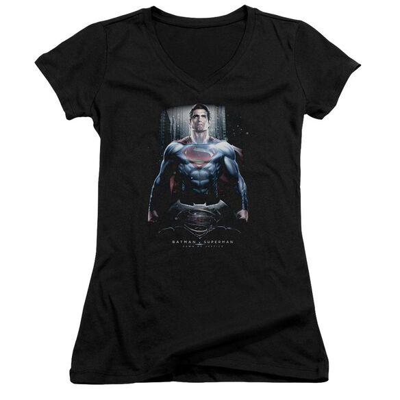 Batman V Superman Supe Ground Zero Junior V Neck T-Shirt