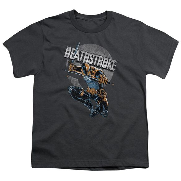 Jla Deathstroke Retro Short Sleeve Youth T-Shirt