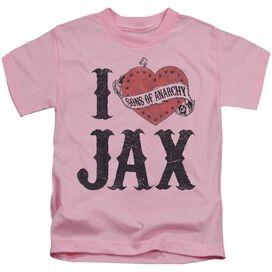 Sons Of Anarchy I Heart Jax Short Sleeve Juvenile T-Shirt