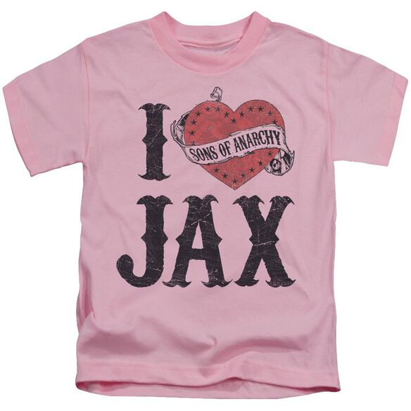 Sons Of Anarchy I Heart Jax Short Sleeve Juvenile T-Shirt