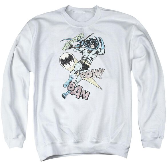 Batman Halftone Swing Adult Crewneck Sweatshirt