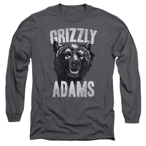 Grizzly Adams Retro Bear Long Sleeve Adult T-Shirt