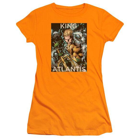 Jla King Of Atlantis Short Sleeve Junior Sheer T-Shirt