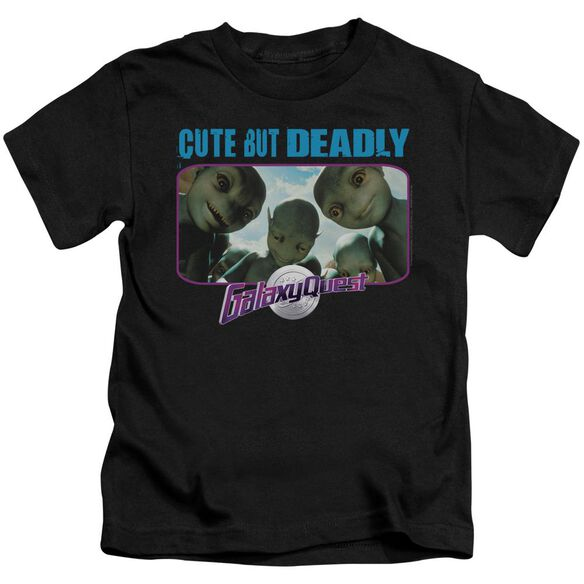 Galaxy Quest Cute But Deadly Short Sleeve Juvenile Black T-Shirt