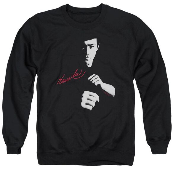 Bruce Lee The Dragon Awaits Adult Crewneck Sweatshirt