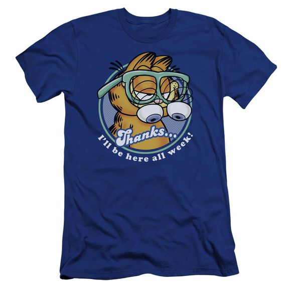 Garfield Performing Premuim Canvas Adult Slim Fit Royal