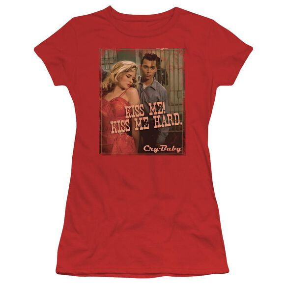 CRY BABY KISS ME - S/S JUNIOR SHEER - RED T-Shirt