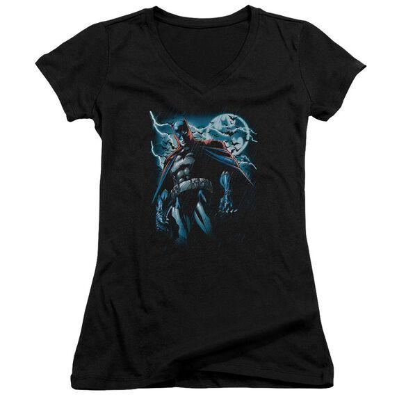 Batman Stormy Knight Junior V Neck T-Shirt