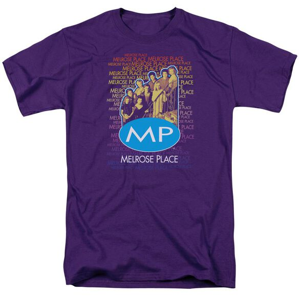 Melrose Place Melrose Place Short Sleeve Adult Purple T-Shirt