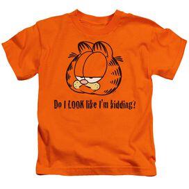 Garfield Do I Look Like Im Kidding Short Sleeve Juvenile Orange T-Shirt
