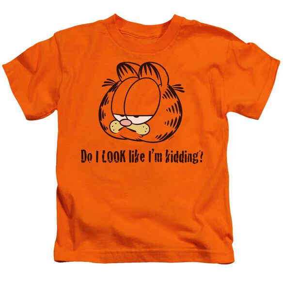 Garfield Do I Look Like Im Kidding Short Sleeve Juvenile Orange T-Shirt