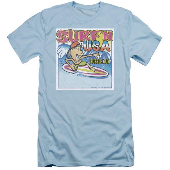 Dubble Bubble Surfn Usa Gum Short Sleeve Adult Light T-Shirt
