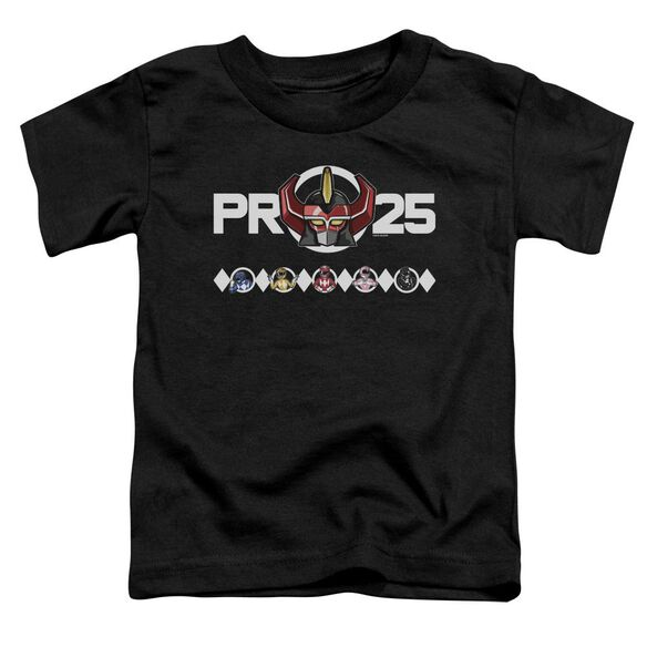 Power Rangers Megazord 25 Short Sleeve Toddler Tee Black T-Shirt