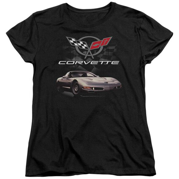 Chevrolet Checkered Past Short Sleeve Womens Tee T-Shirt