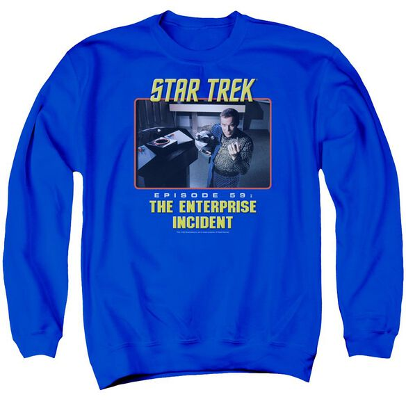 St Original The Enterprise Incident Adult Crewneck Sweatshirt Royal