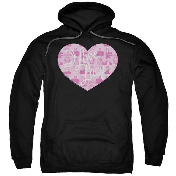 I Love Lucy Many Moods Logo Adult Pull Over Hoodie Black