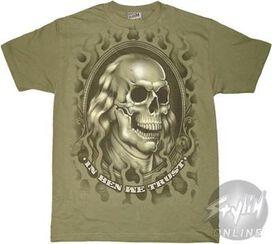 Dead Presidents Franklin Portrait T-Shirt