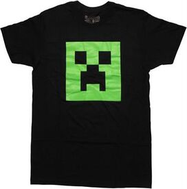 Minecraft Glow Creeper Face T-Shirt
