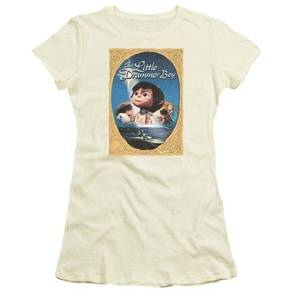 Little Drummer Boy Fancy Border Short Sleeve Junior Sheer T-Shirt