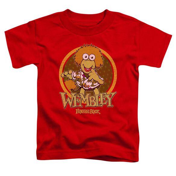 Fraggle Rock Wembley Circle Short Sleeve Toddler Tee Red T-Shirt