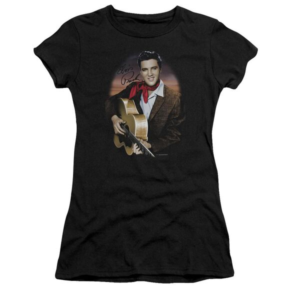 Elvis Red Scarf #2 Short Sleeve Junior Sheer T-Shirt