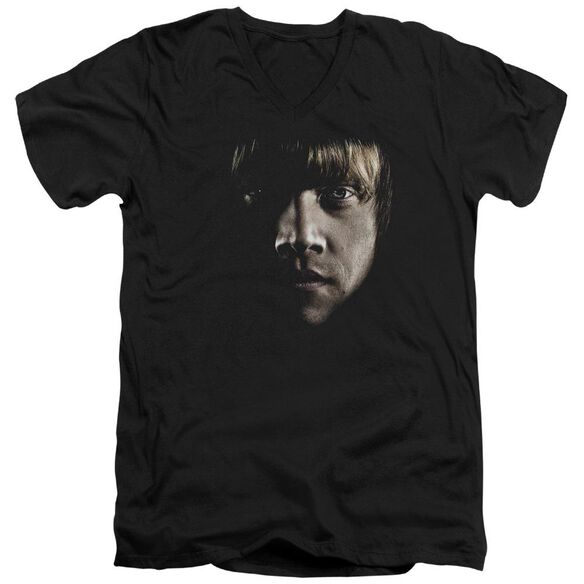 Harry Potter Ron Poster Head Short Sleeve Adult V Neck T-Shirt