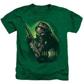 Farscape D'argo Warrior Short Sleeve Juvenile Kelly Green T-Shirt