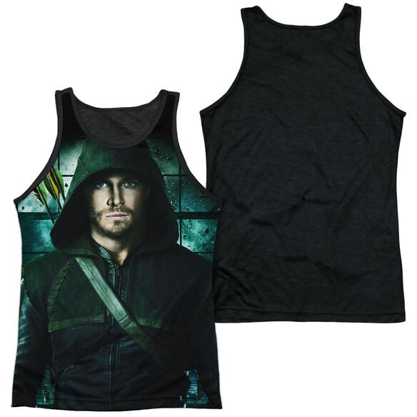 Arrow Two Sides Adult Poly Tank Top Black Back