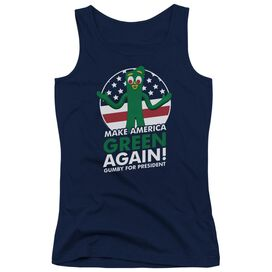 Gumby For President Juniors Tank Top