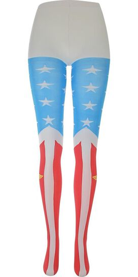 Wonder Woman Suit Footed Tights
