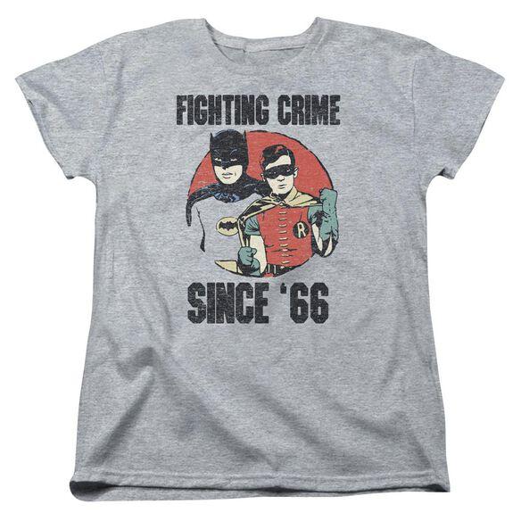 Batman Classic Tv Since 66 Short Sleeve Womens Tee Athletic T-Shirt