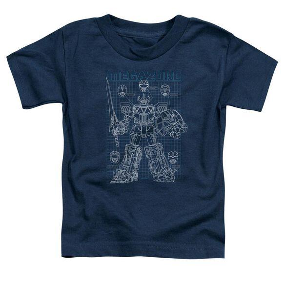 Power Rangers Mega Plans Short Sleeve Toddler Tee Navy T-Shirt