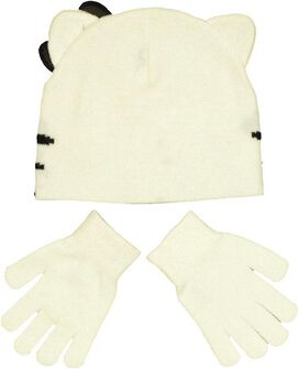 Hello Kitty Beanie Gloves Set