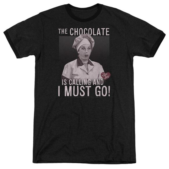 I Love Lucy Chocolate Calling Adult Heather Ringer