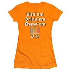 Dubble Bubble Bite Drink Chew Short Sleeve Junior Sheer T-Shirt