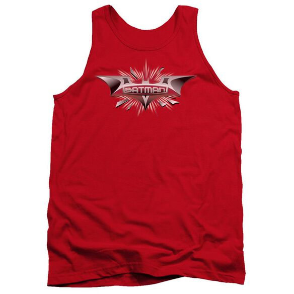 Dark Knight Beveled Chrome Shield Adult Tank