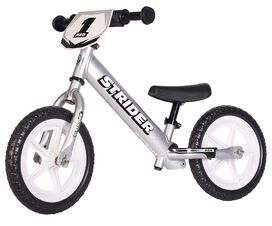 Strider - 12 Pro Balance Bike [Silver], Ages 18 Months to 5 Years