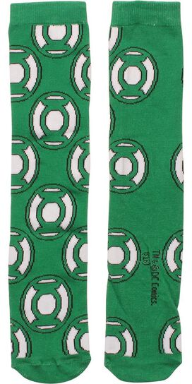 Green Lantern Logo All Over Crew Socks