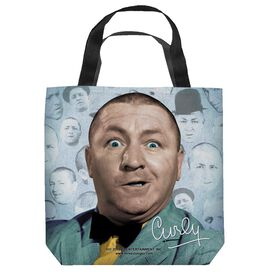 Three Stooges Curly Heads Tote Bag