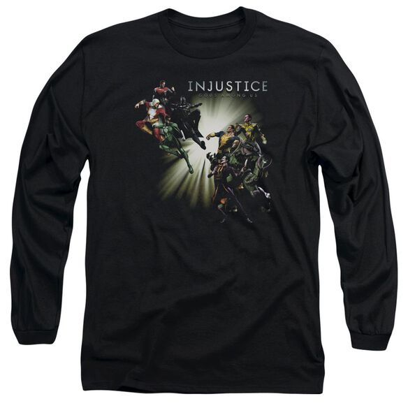 Injustice Gods Among Us Good Vs Evil Long Sleeve Adult T-Shirt