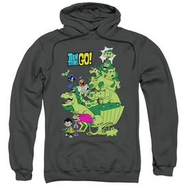 Teen Titans Go Beast Boy Stack Adult Pull Over Hoodie
